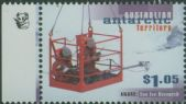 AAT SG120 $1.05 Scientists in cage above sea ice 1K reprint